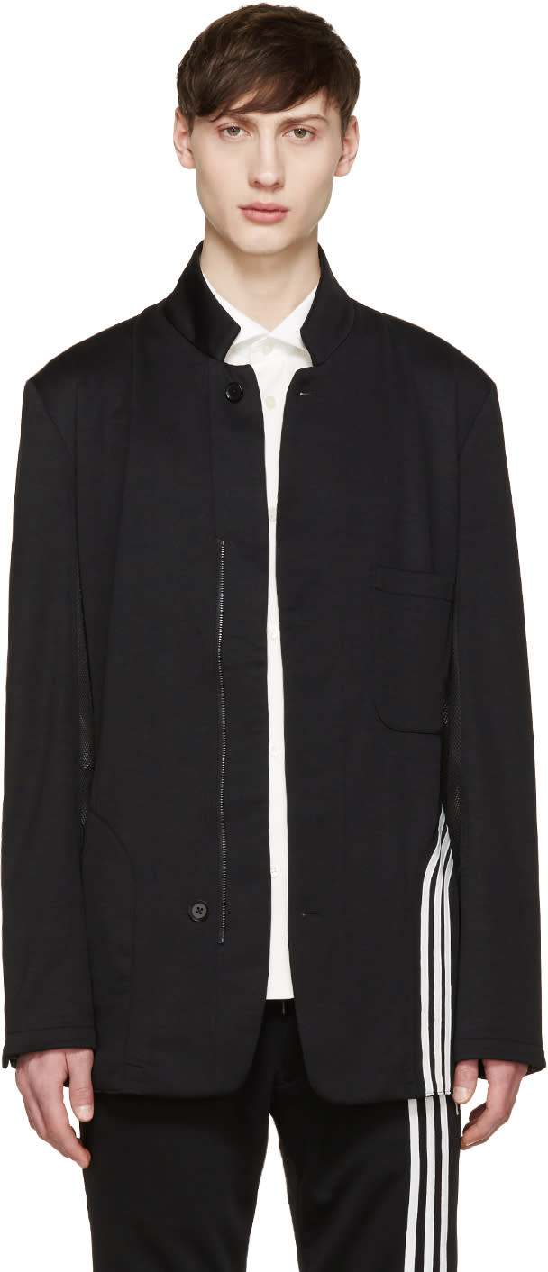 Y-3 Black Fluid Stripe Blazer