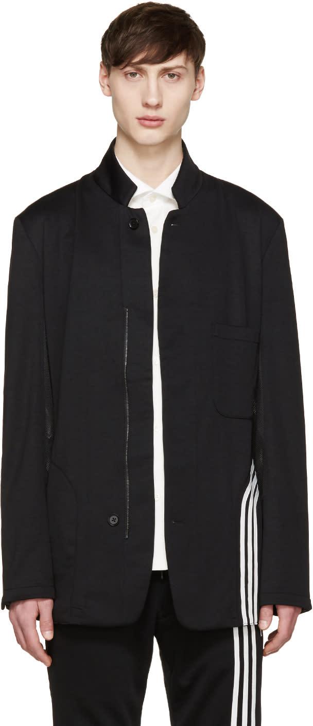 Y-3 Black Fluid Stripe Blazer