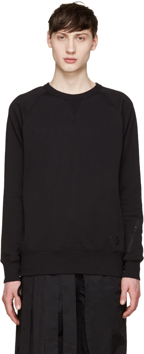 Y-3 Black Ribbed Sweatshirt