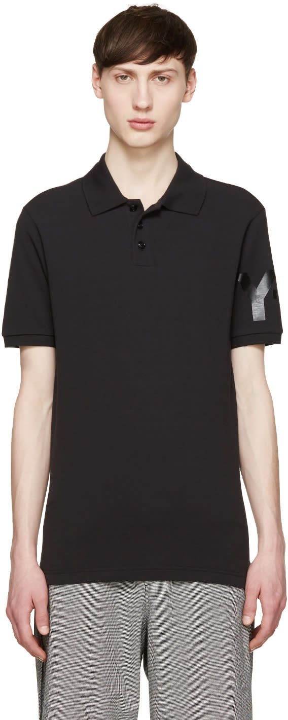 Y-3 Black Tonal Logo Polo