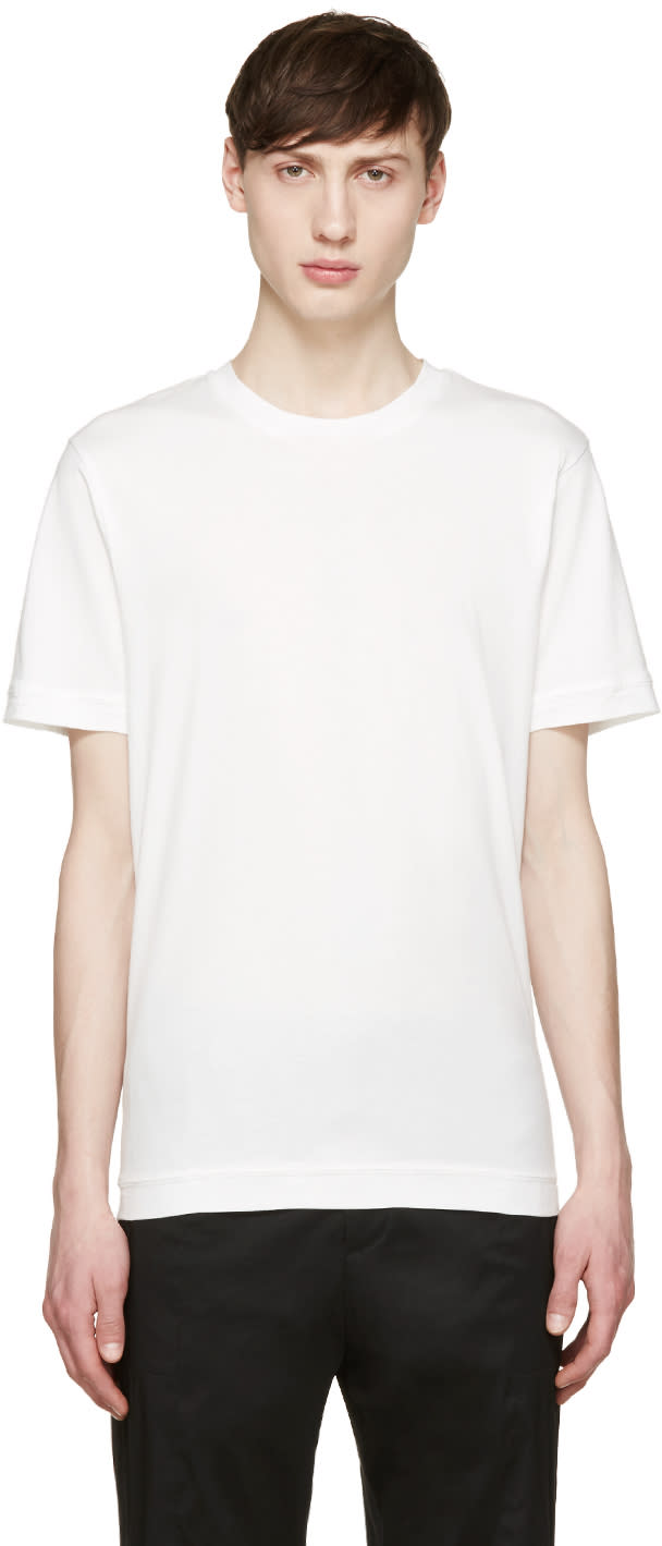 Y-3 White Bar Tack T-shirt