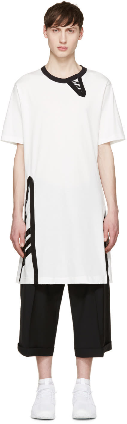 Y-3 White Uni Zip T-shirt