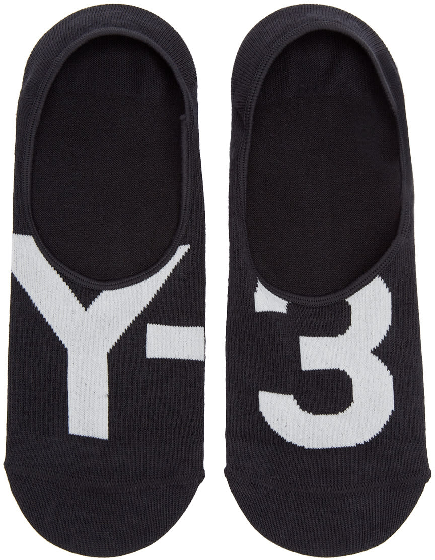 Y-3 Black Logo No-show Socks