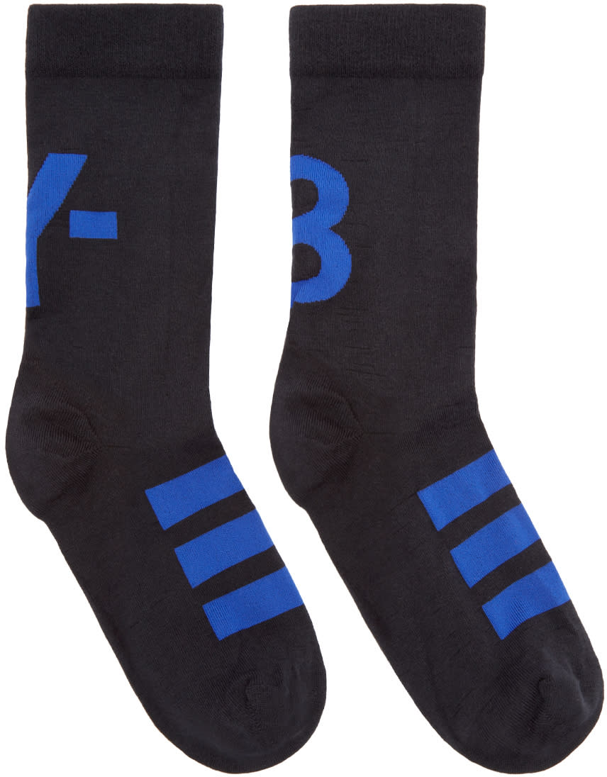Y-3 Black Logo Ankle Socks