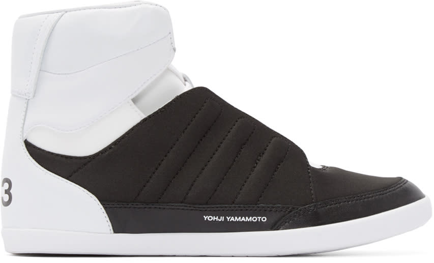Y-3 Black and White Honja High-top Sneakers