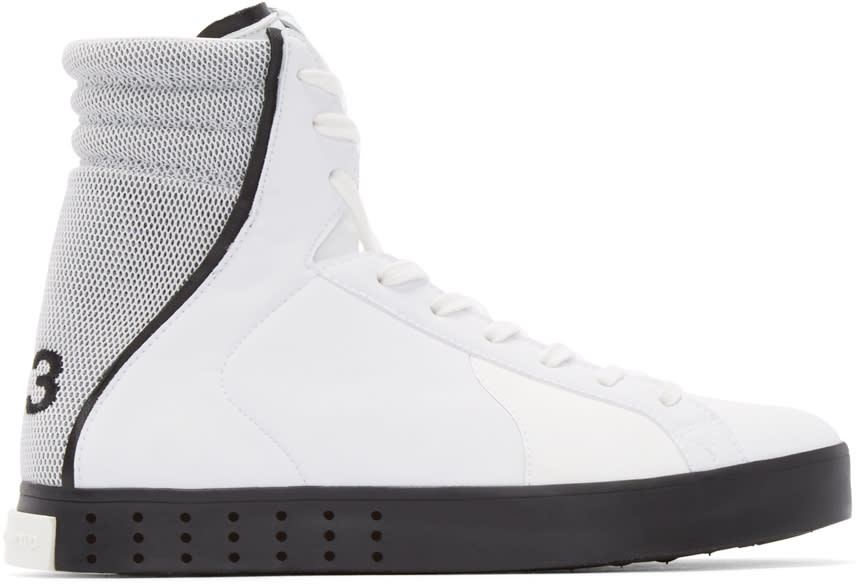 Y-3 White Mid Lt High-top Sneakers