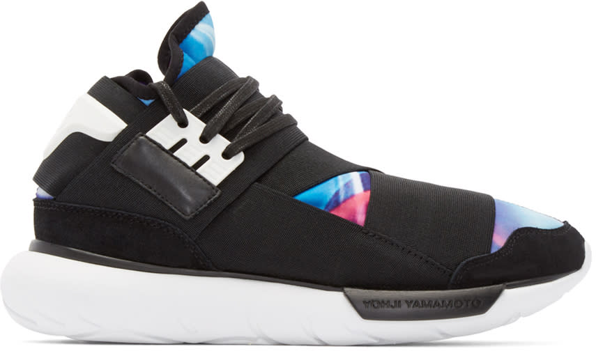Y-3 Black and Mulitcolor Qasa High Sneakers