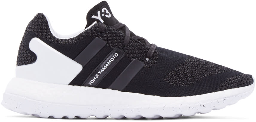 Y-3 Black Primeknit Pure Boost Zg Sneakers