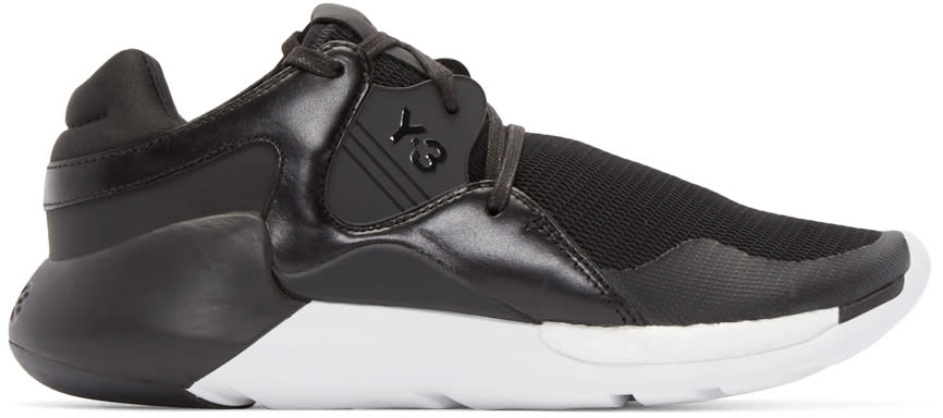 Y-3 Black Qr Run Sneakers