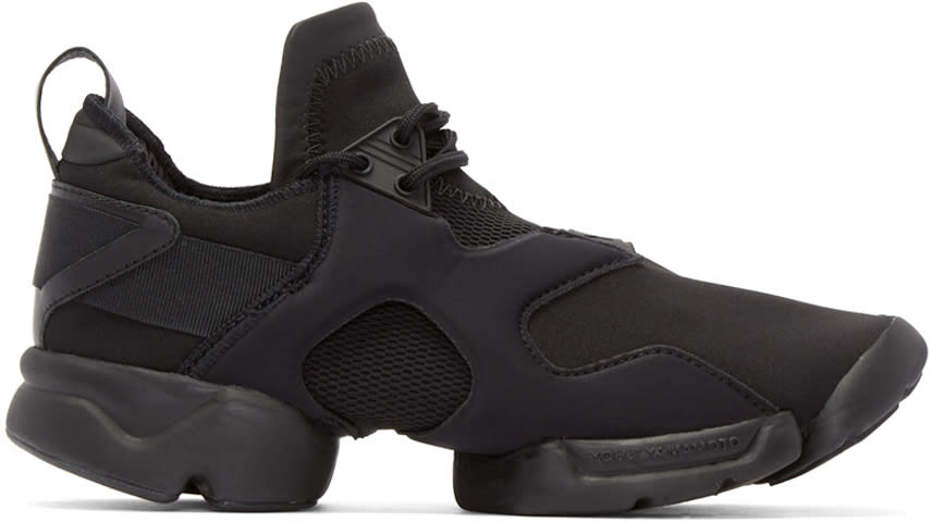 Y-3 Black Neoprene Konha Sneakers