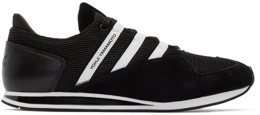 Y-3 Black and White Kyoshu Run Sneakers