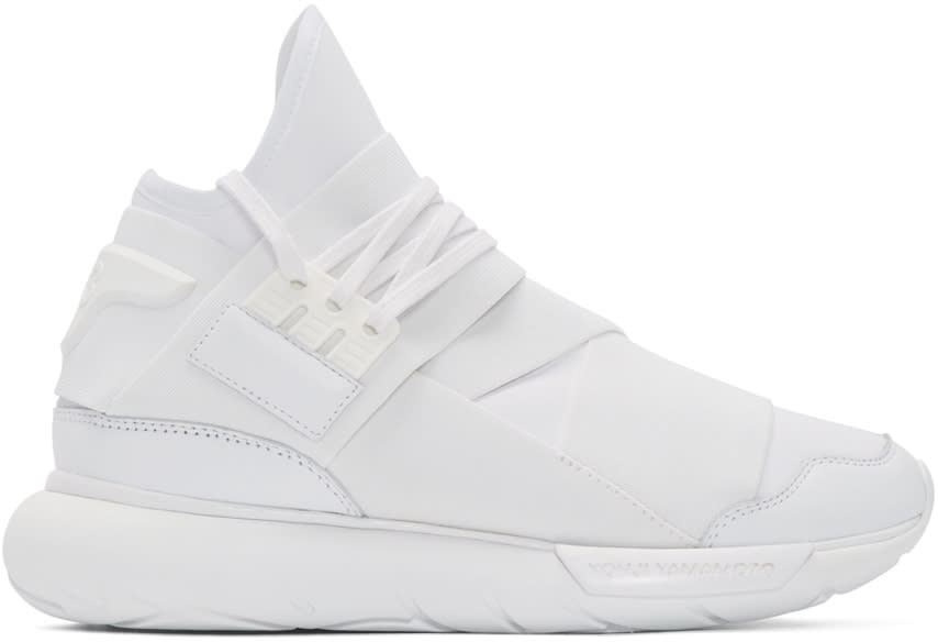 Y-3 White Neoprene Qasa High-top Sneakers