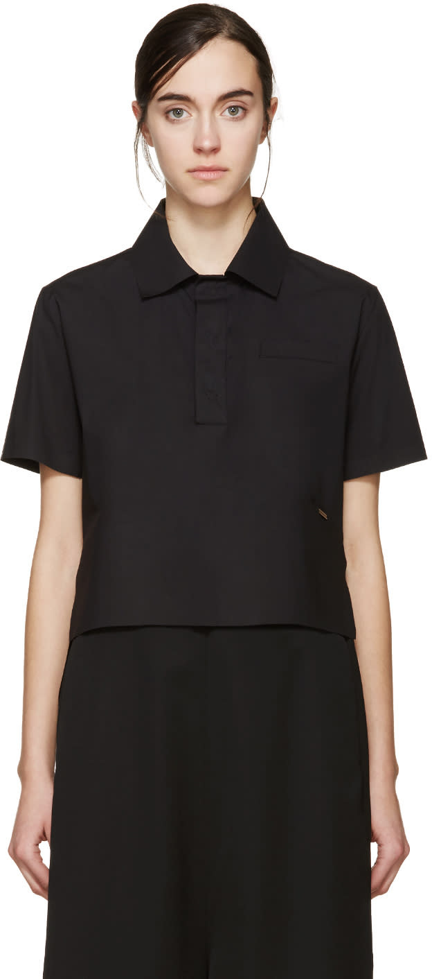 Dsquared2 Black Poplin Mya Polo