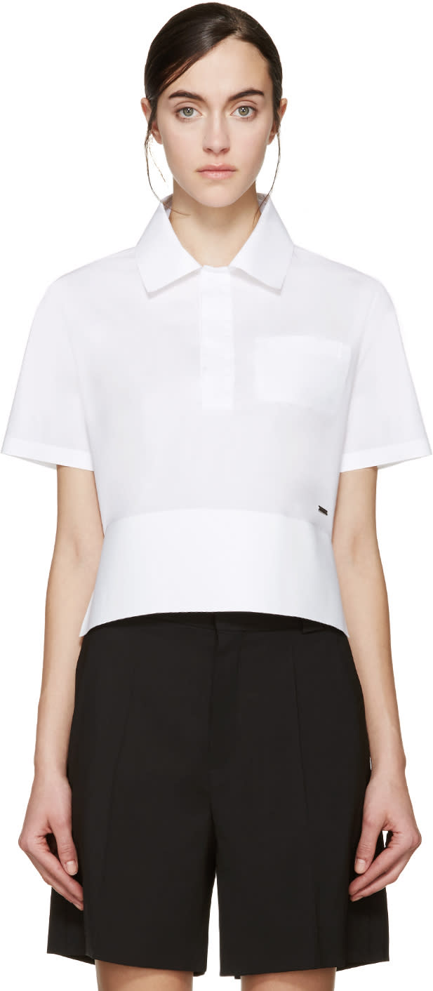 Dsquared2 White Poplin Mya Polo