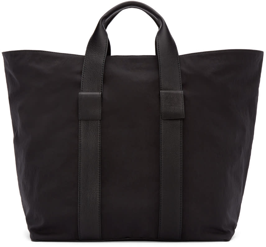 Dsquared2 Black Leather and Nylon Tote