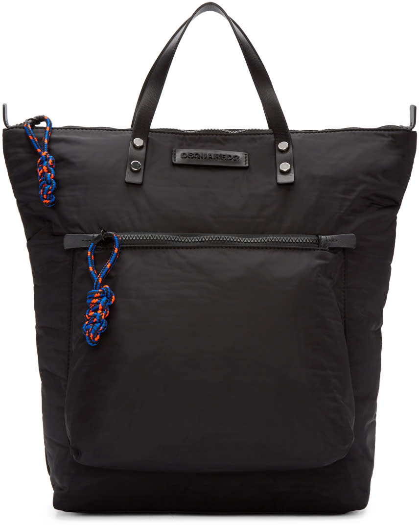 Dsquared2 Black Nylon Tote