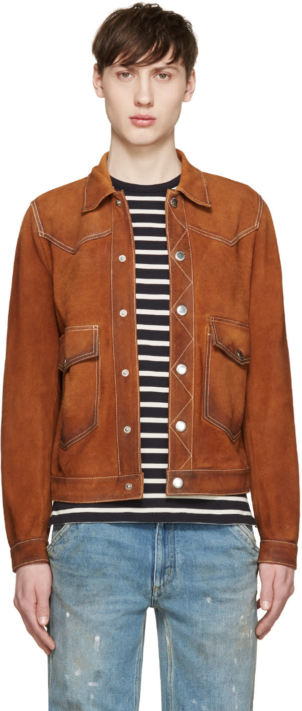Dsquared2 Brown Suede Jacket