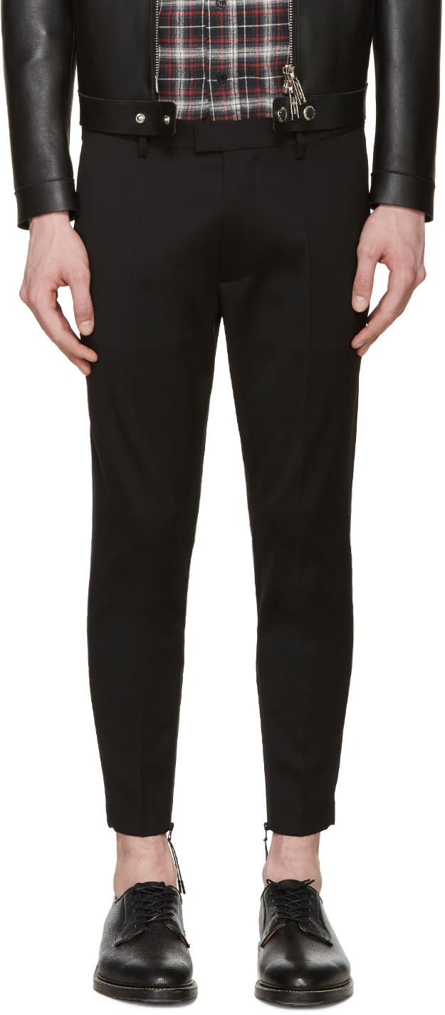 Dsquared2 Black Skinny Techno Trousers