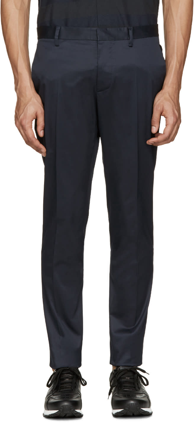 Dsquared2 Navy Raw Hem Trousers