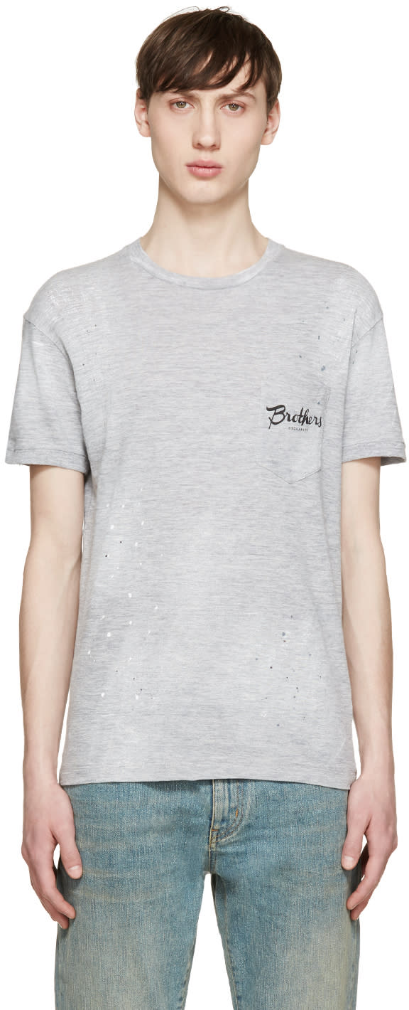 Dsquared2 Grey Brothers Pocket T-shirt