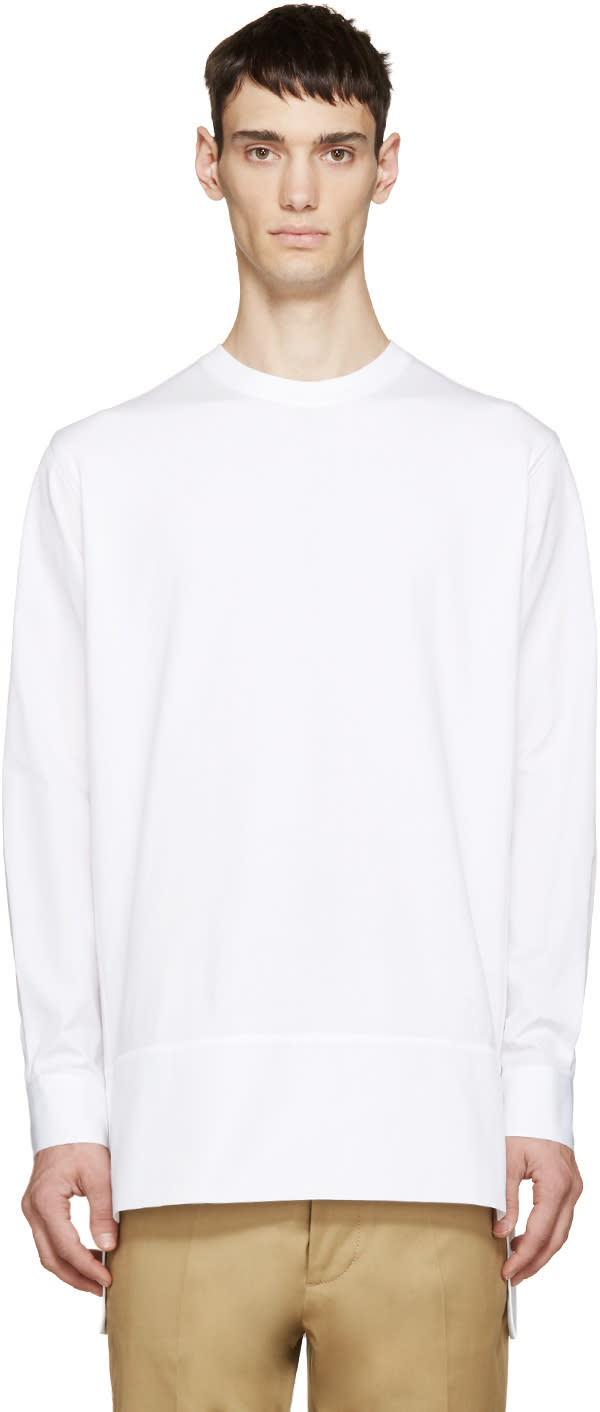 Dsquared2 White Jersey and Poplin Shirt