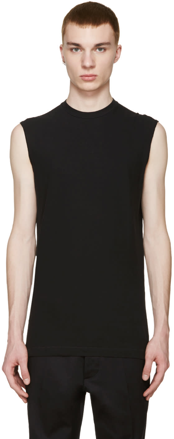 Dsquared2 Black Long Twisted T-shirt