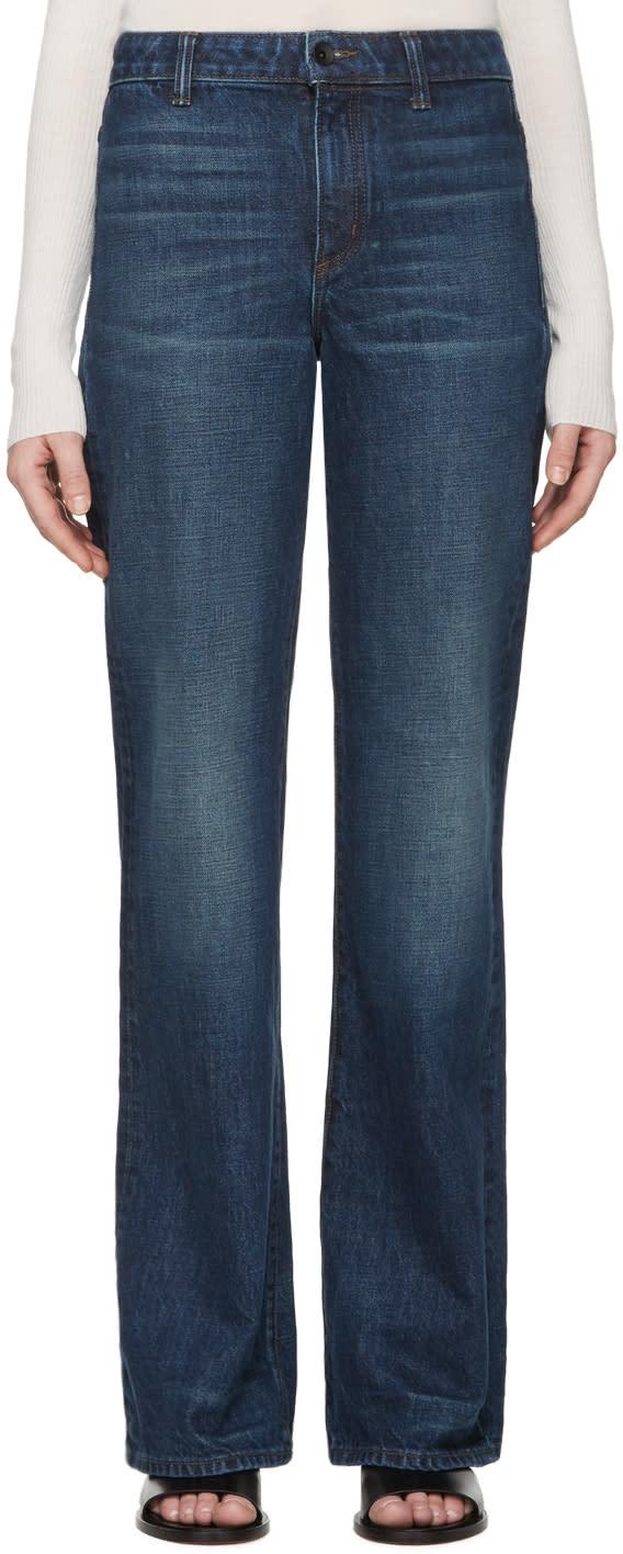 Helmut Lang Indigo No Pocket Jeans