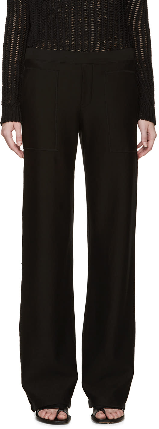 Helmut Lang Black French Terry Lounge Pants