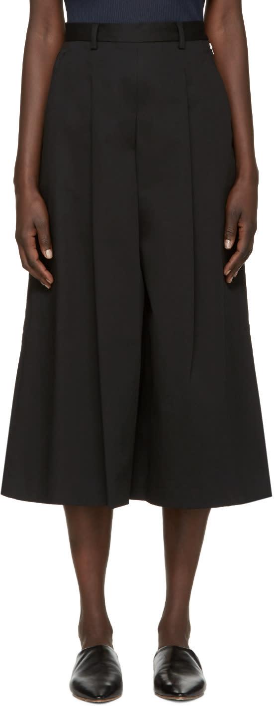 Ymc Black Twill Culottes
