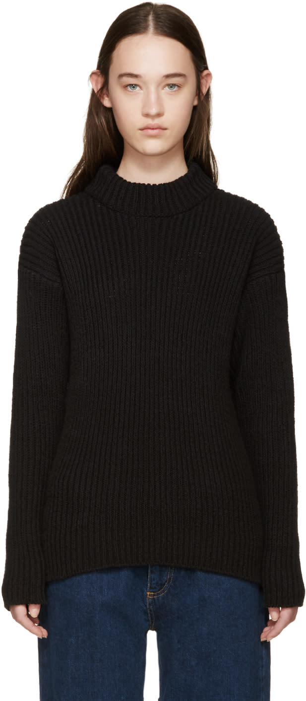 Ymc Black Linen Knit Sweater