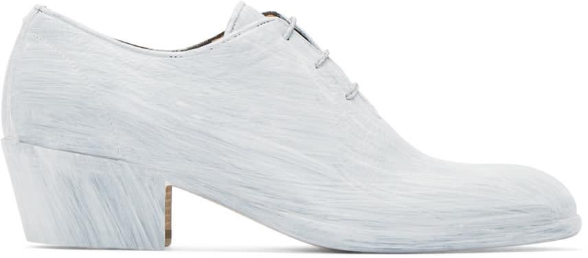 Maison Margiela White Painted Blanchette Oxfords