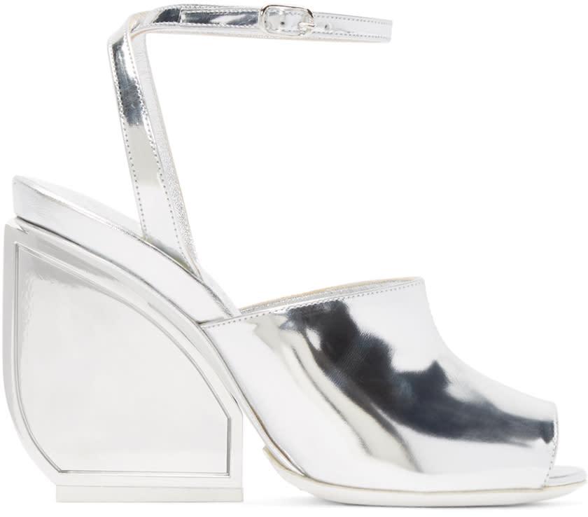 Maison Margiela Silver Mirror Heel Sandals