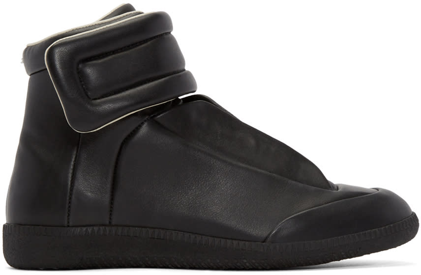 Maison Margiela Black Leather Future High-top Sneakers