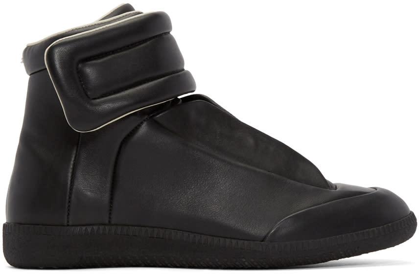 Maison Margiela Black Leather Future High-top Sneakers