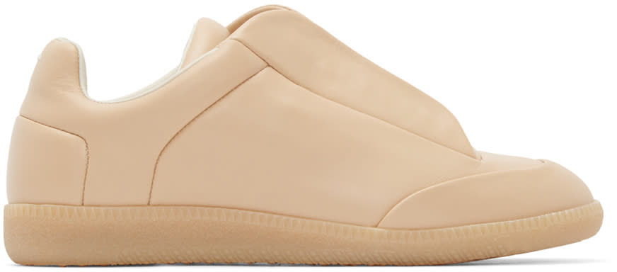 Image of Maison Margiela Beige Leather Future Sneakers