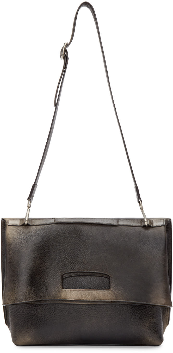 Maison Margiela Black Aged Leather Bag