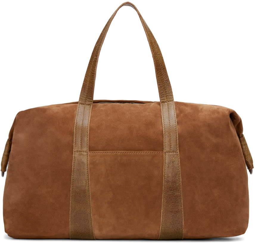 Maison Margiela Brown Suede Travel Bag