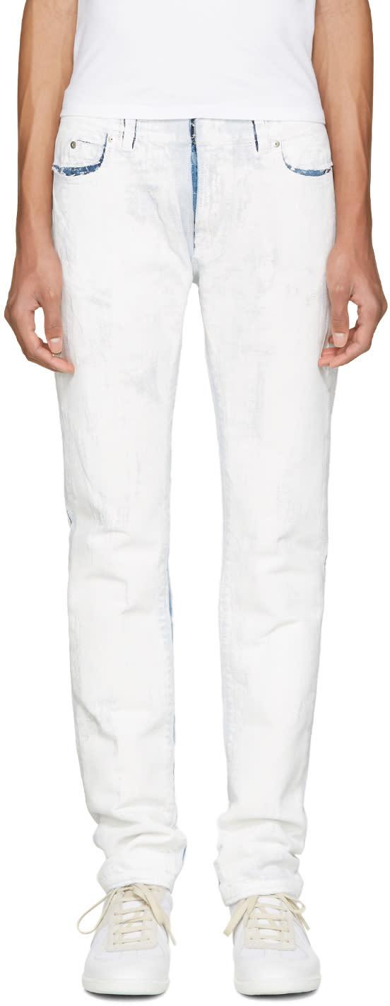 ホワイトペイントジーンズ