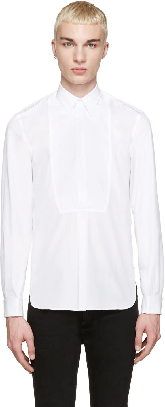 ホワイトタキシードシャツ