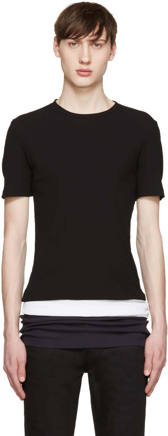 トリコロール ロング T シャツ