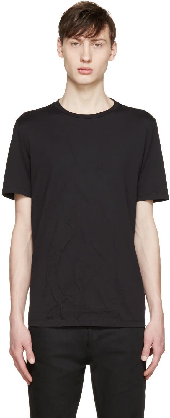 しわ加工tシャツ(黒)