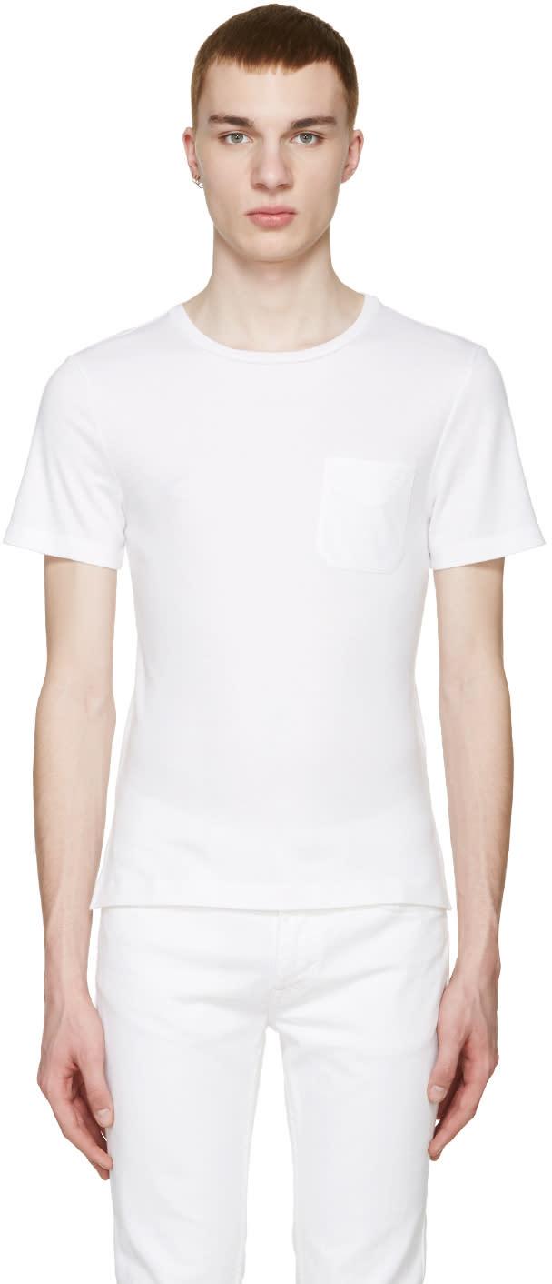 ホワイト ポケット Tシャツ