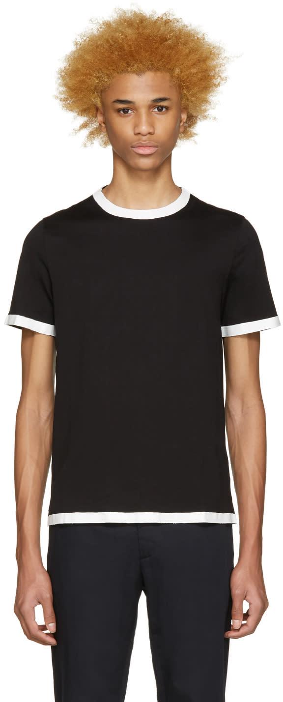 ブラックペイントシームtシャツ