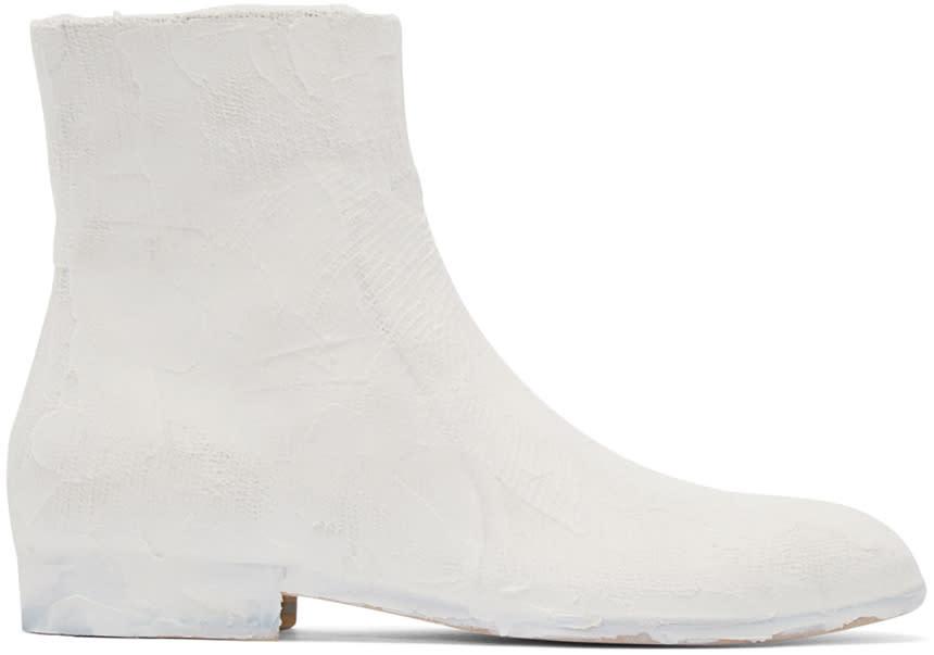ホワイト チョーク エフェクト ブーツ