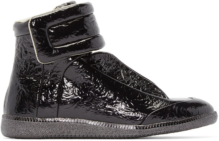 Maison Margiela Black Foil Future High-top Sneakers