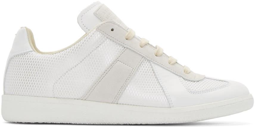 Maison Margiela White Mix Replica Low-top Sneakers