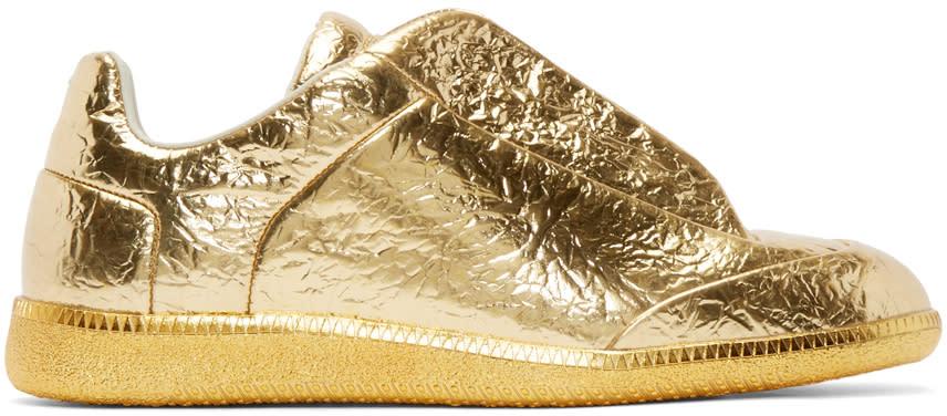 Maison Margiela Gold Metallic Future Sneakers