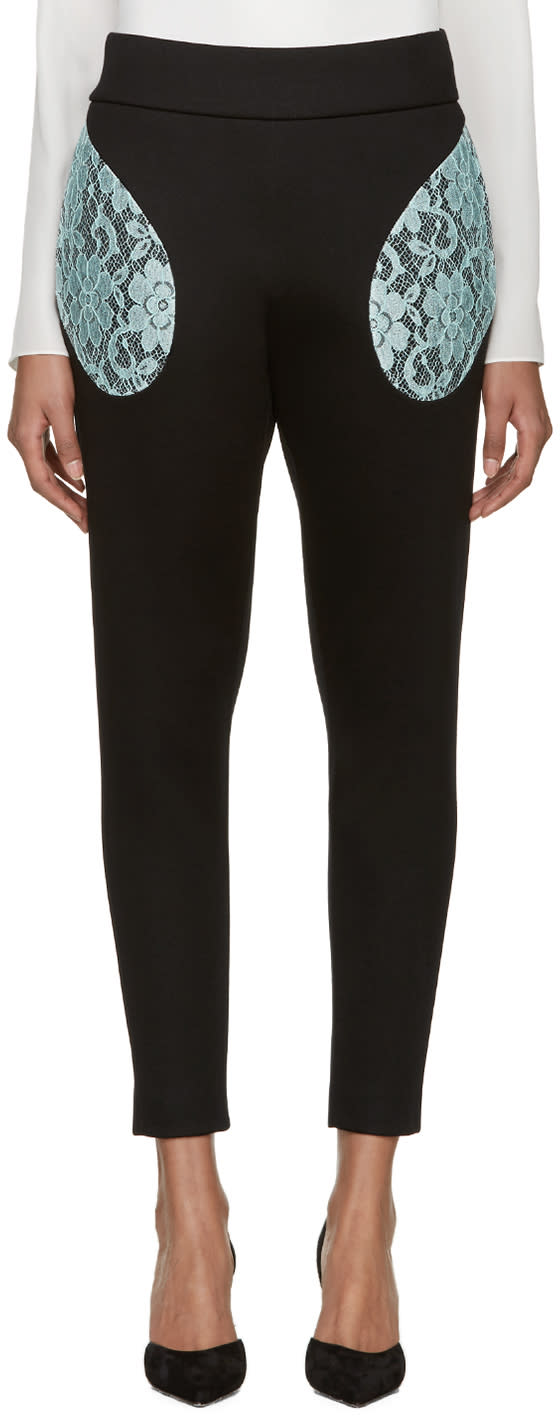 Christopher Kane Black Lace Pocket Trousers