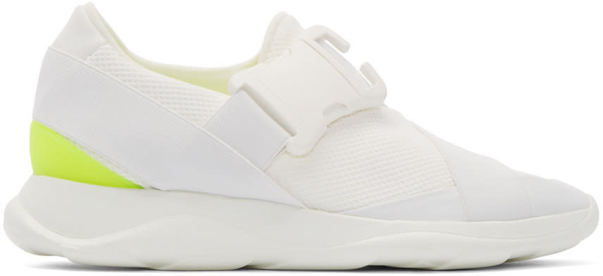 Christopher Kane White Buckle Low-top Sneakers
