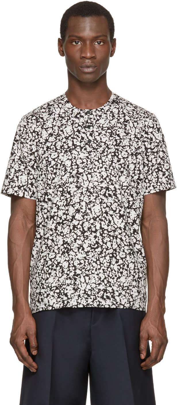 Christopher Kane Black and White Decay Print Shirt